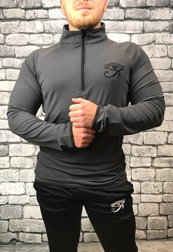 Grey Quarter Zip – Front